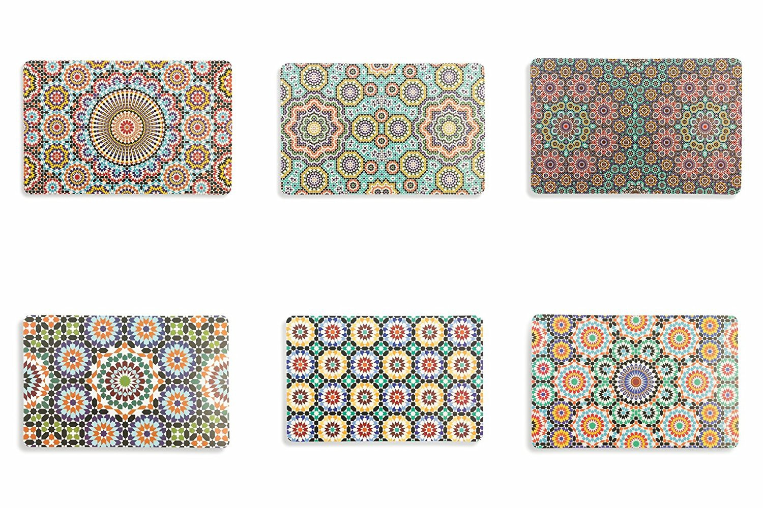 "Villa D'Este Set 6 Tovaglietta multicolore collezione ""Marrakech"""