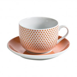 Fade Set 2 tazza colazione Dot line orange
