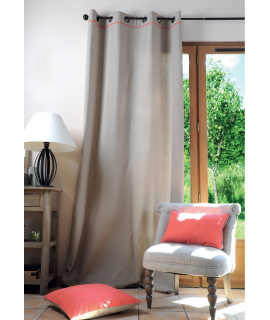 Lovely casa tenda Duo 135 x 250 cm colore lino/corallo