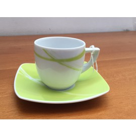 WEISSESTAL Set 6 Tazze caffè decoro Brush Green